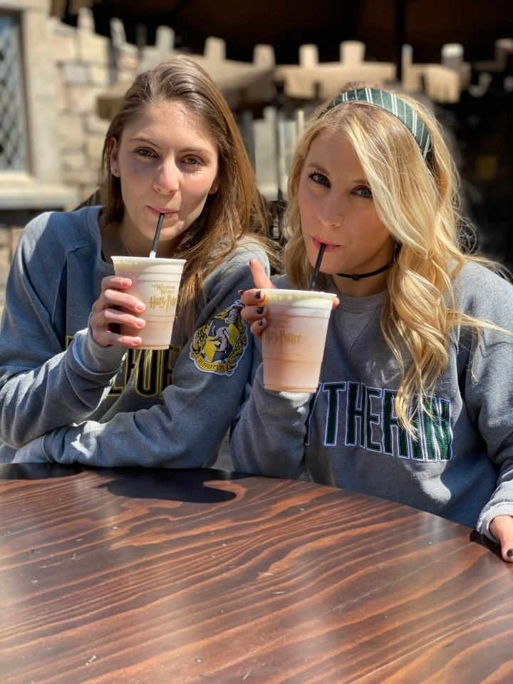 dani and I drinking butterbeer