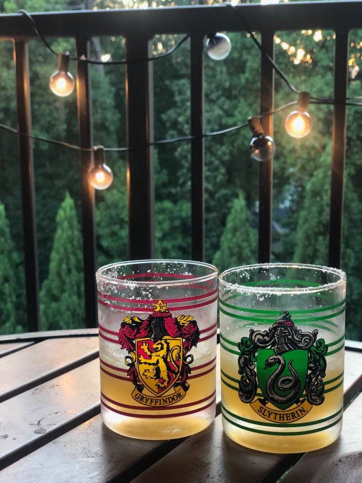 Slytherin and Gryffindor cocktails