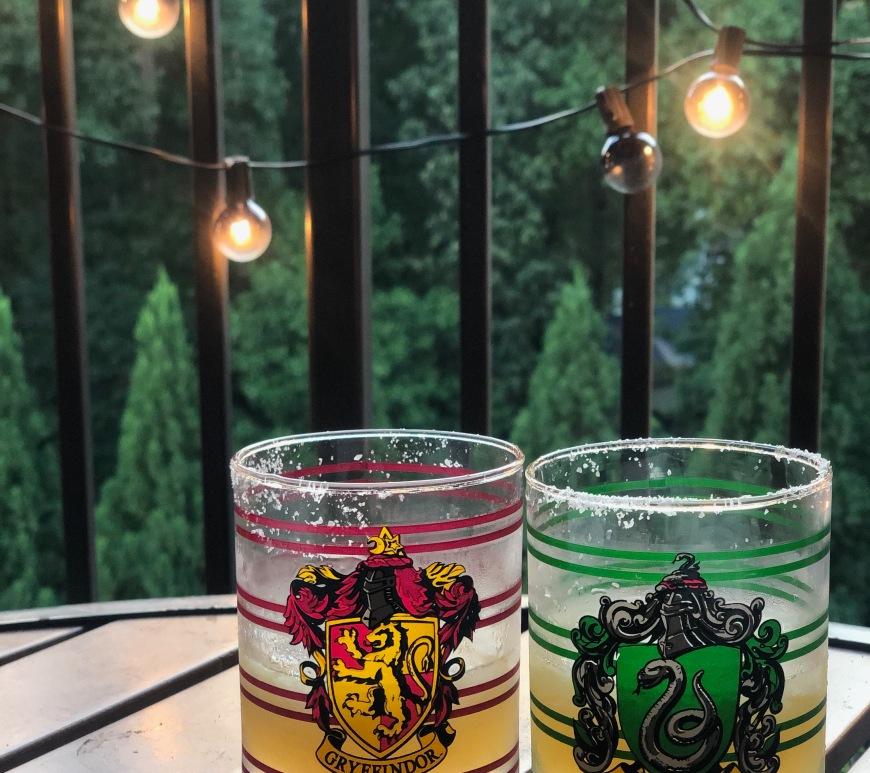 Slytherin and Gryffindor cocktails